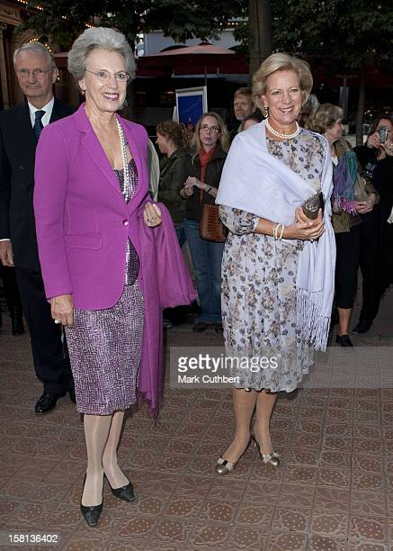 Queen Anne Marie Of Greece And Princess Benedikte Of Denmark Arriving At Tivoli In Copenhagen For A Gala Concert To Mark The 100Th Anniversary Of...