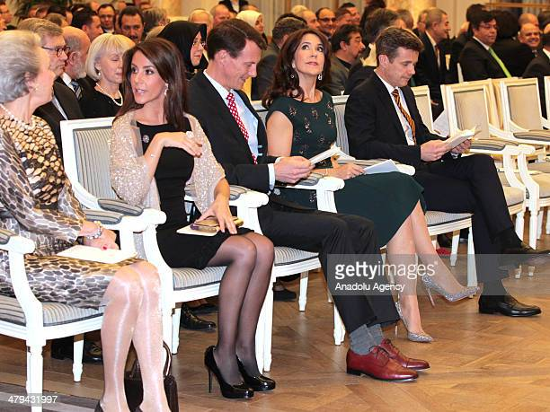 Queen Anne Marie of Greece Princess Marie and Prince Joachim of Denmark Crown Princess Mary and Crown Prince Frederik of Denmark attend a reception...