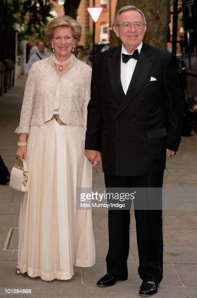 Queen AnneMarie and King Constantine of Greece attend the King's 70th birthday party at Crown Prince Pavlos of Greece's residence on June 2 2010 in...