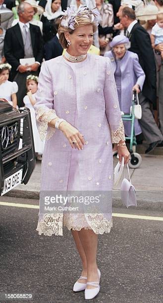 Queen AnneMarie Of Greece Attends The Wedding Of Princess Alexia Of Greece And Carlos Morales Quintana At The St Sophia Cathedral In London