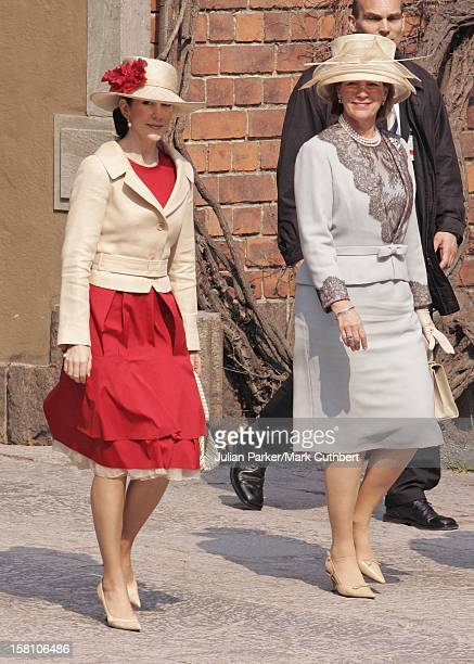 Queen AnneMarie Of Greece Crown Princess Mary Of Denmark Attend King Carl Gustaf Of Sweden'S 60Th Birthday CelebrationsThe Parliaments Lunch At City...