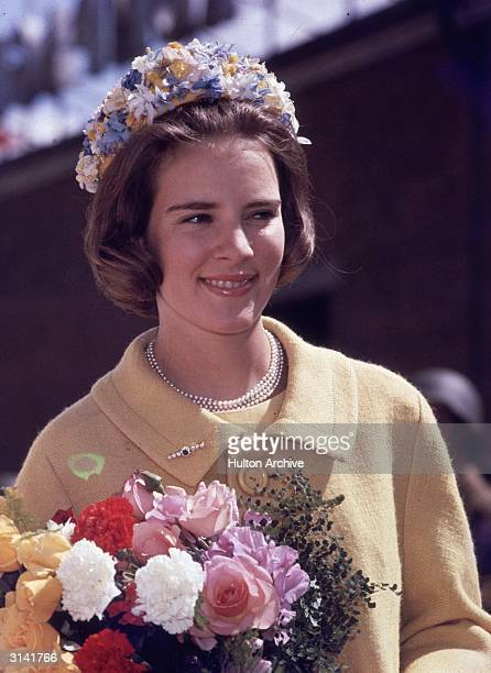 Queen AnneMarie wife of King Constantine of Greece who was deposed in 1973 She is the second daughter of King Frederick of Denmark