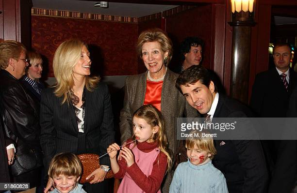 Queen AnneMarie with Prince Pavlos and Princess MarieChantal of Greece with their children MariaOlympia Constantine Alexios and Achileas Andreas...