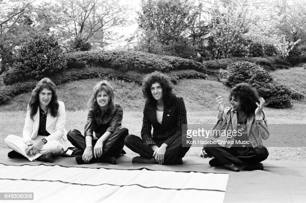 Queen at Tea Ceremony on the grass of Tokyo Prince Hotel's garden April 20th 1975