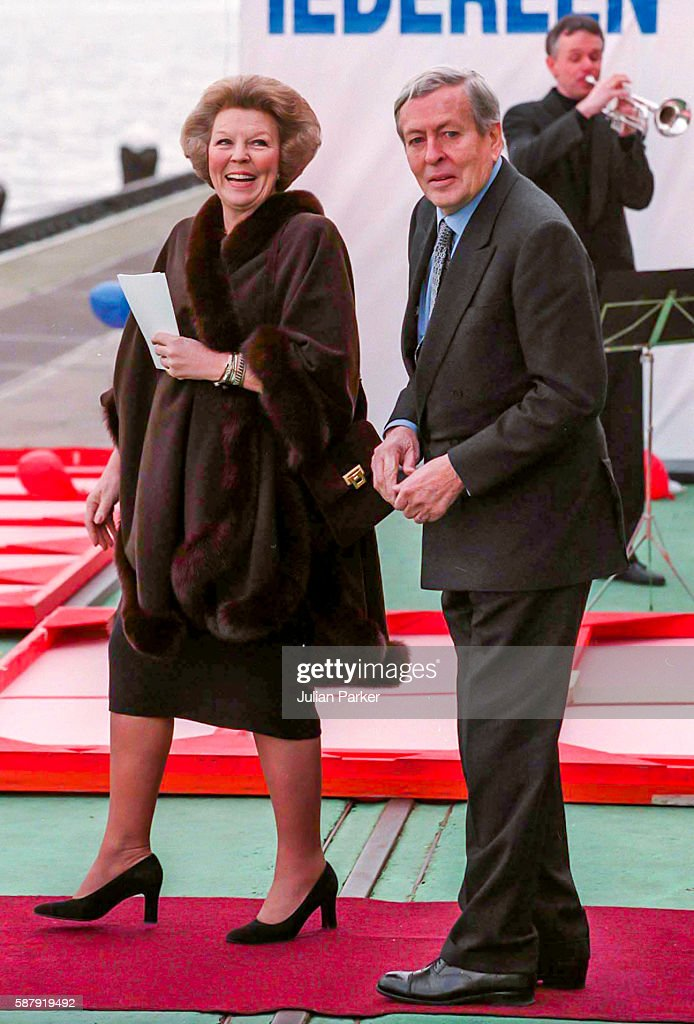 Queen Beatrix and Prince Claus of The Netherlands attend a Church Service at Westerkerk and then a trip and Lunch on a Paddle Steamer in Amsterdam as...