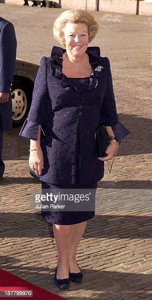 Queen Beatrix Attends The Christening Of Prince Constantijn Princess Laurentien Of Holland'S Son ClausCasimir At The Palais Het Loo In Apeldorn