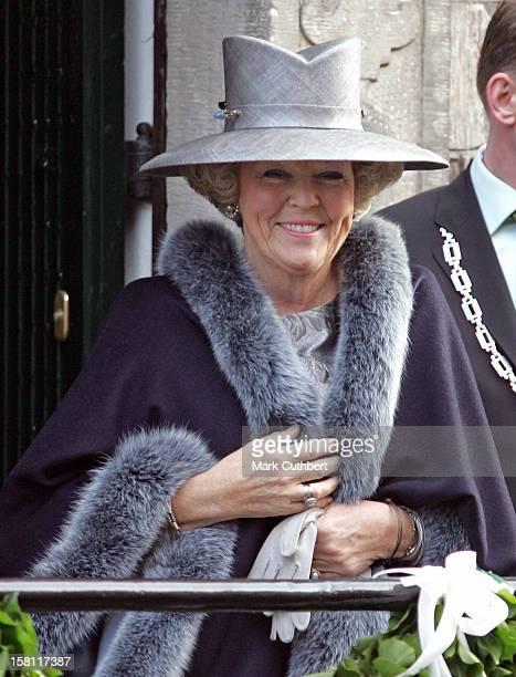 Queen Beatrix Attends The Wedding Of Prince Floris Aimee Sohngen At The Grote Kerk In Naarden Holland