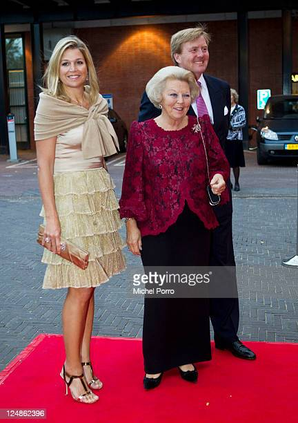 Queen Beatrix Crown Prince Willem Alexander and Princess Maxima attend the 50th anniversary of the Dutch National Ballet at Amsterdam Music Theatre...