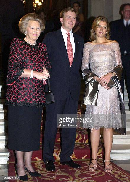 Queen Beatrix Crown Prince Willem Alexander Crown Princess Maxima Of Holland During Their State Visit To ChileConcert At The Club De La Union In...