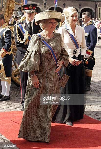 Queen Beatrix Crown Prince WillemAlexander Crown Princess Maxima Of Holland Attend The Prinsjesdag Prince'S Day State Opening Of Parliament In The...