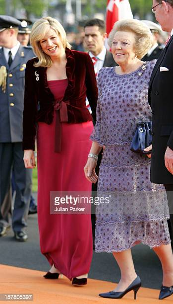 Queen Beatrix Crown Princess Maxima Attend A Concert At The Malieveld In Den Haag As Part Of The Queen'S Day Celebrations In Holland