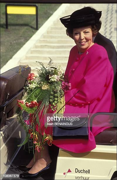 """Queen BEATRIX inaugurates """"FLORIADE 92"""" in Zoetermeer Netherlands on april 09 1992"""
