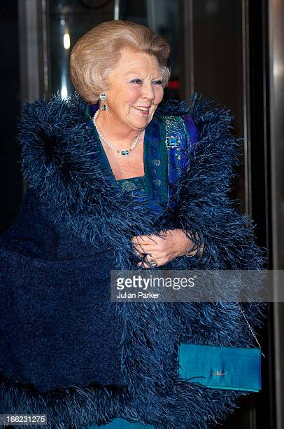 Queen Beatrix of Holland attends a Concert to mark the 125th Anniversary of the Concertgebouw at the Concertgebouw on April 10 2013 in Amsterdam...