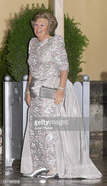 Queen Beatrix Of Holland Attends A Gala Dinner At The El Pardo Royal Palace In Madrid