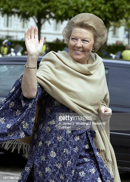 Queen Beatrix Of Holland Attends A Luncheon Onboard The Royal Yacht In Copenhagen Before The Wedding Of Crown Prince Frederik Mary Donaldson