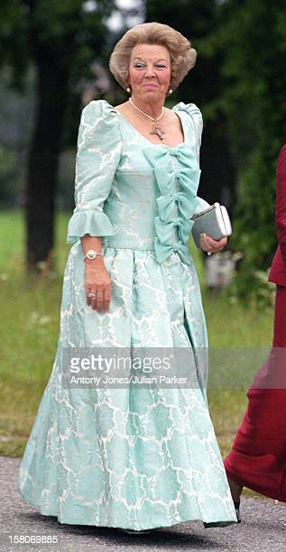 Queen Beatrix Of Holland Attends A Performance At Gripsholm Castle During The Celebrations For King Carl Gustav Queen Silvia Of Sweden'S 25Th Wedding...