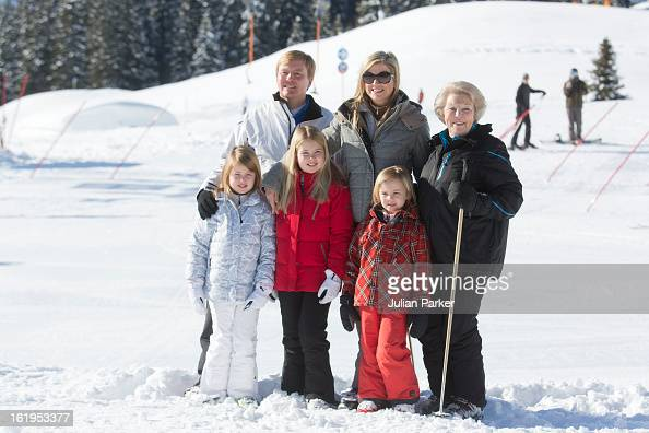 Queen Beatrix of Holland with her son Crown Prince Willem Alexander and Crown Princess Maxima of Holland and thier children Princess Catharina Amalia...