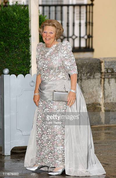 Queen Beatrix of the Netherlands during The PreWedding Royal Dinner Gala For Crown Prince Felipe Of Spain at Madrid in Madrid Spain