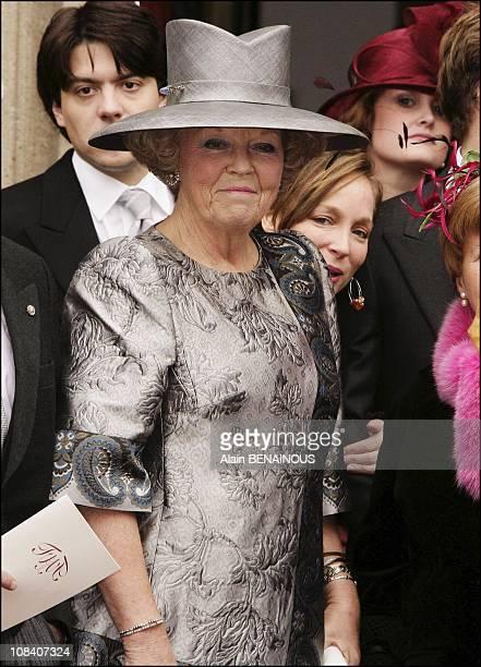 Queen Beatrix of the Netherlands in Naarden Netherlands on October 22 2005