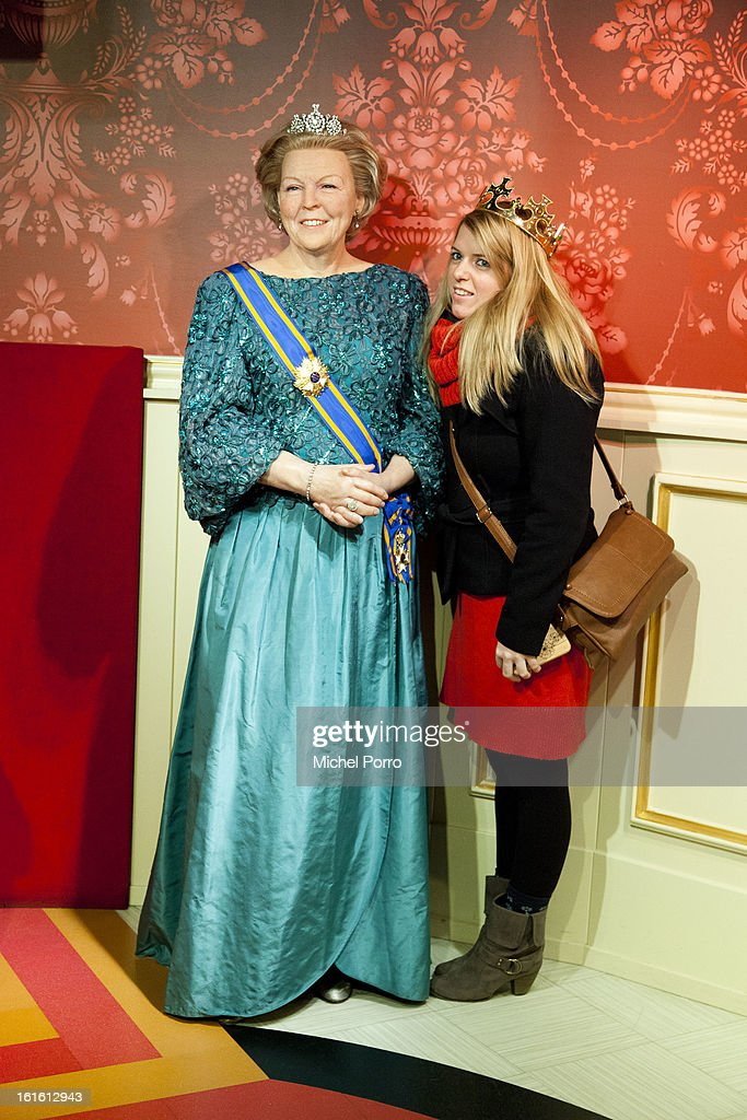 . Queen Beatrix of The Netherlands is a popular personality at Madame Tussauds as the nation looks forward t the upcoming 30 April 2013 coronation on February 13, 2013 in Amsterdam, Netherlands.