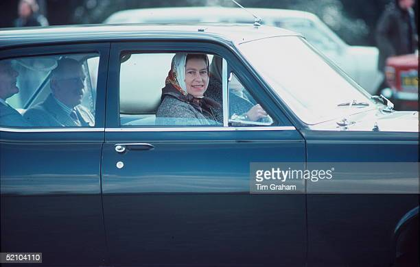 Queen Driving A Vauxhall Estate Car In Windsor Great Park circa 1970s