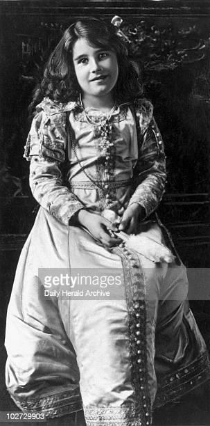 Queen Elizabeth 1909 Queen Elizabeth mother of Queen Elizabeth II aged 9 1909 'Lady Elizabeth taken at Glamis Castle'
