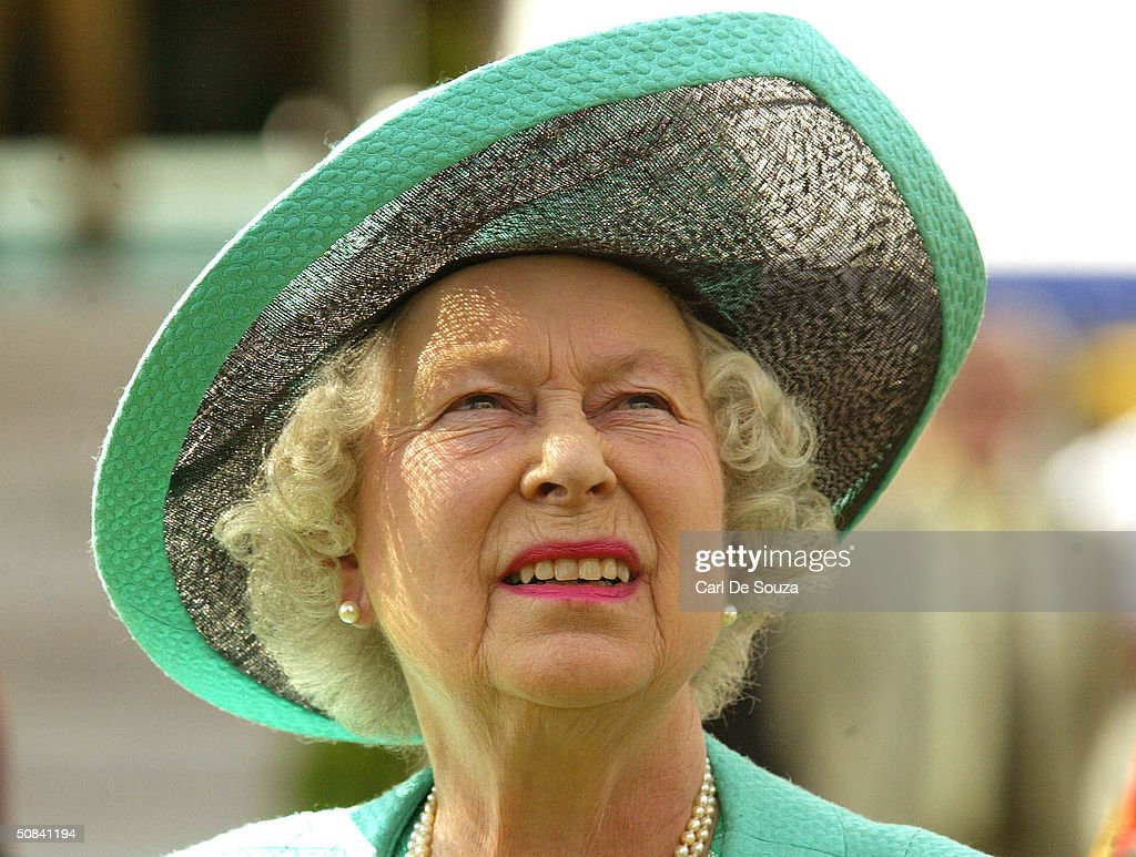 Queen Elizabeth attends the third day of the Royal Windsor Horse Show at Home Park May 15, 2004 in Windsor, England.