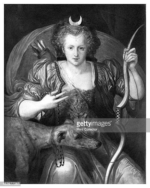 Queen Elizabeth I as Diana 16th century Elizabeth as Diana the Huntress Illustration after a picture in the collection of the Marquess of Salisbury...