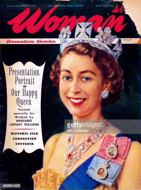 Queen Elizabeth II 1953 From the front cover of Woman magazine Cropping restrictions are in place
