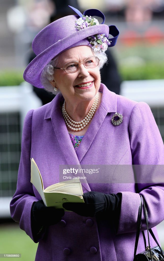 Queen Elizabeth II after winning The Gold Cup on Ladies' Day during day three of Royal Ascot at Ascot Racecourse on June 20, 2013 in Ascot, England.
