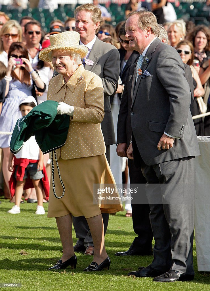 Queen <a gi-track='captionPersonalityLinkClicked' href=/galleries/search?phrase=Elizabeth+II&family=editorial&specificpeople=67226 ng-click='$event.stopPropagation()'>Elizabeth II</a> and Andrew Parker Bowles attend The Harcourt Developments Queen's Cup Final at Guards Polo Club on June 14, 2009 in Egham, England.
