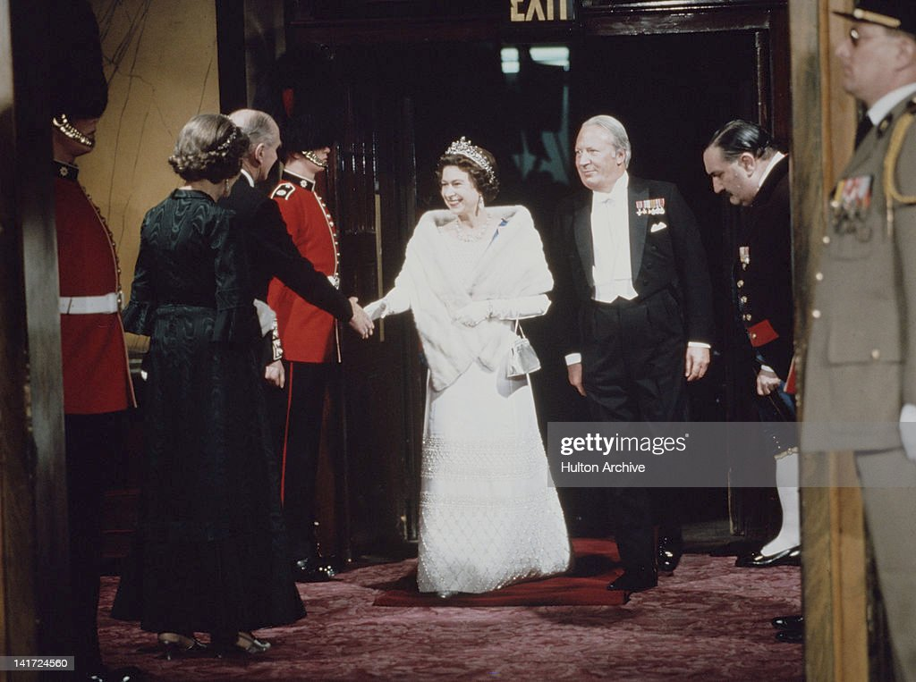 Queen Elizabeth II and British Prime Minister Edward Heath attend the 'Fanfare For Europe' gala concert to celebrate Britain's entry into the EEC 3rd...