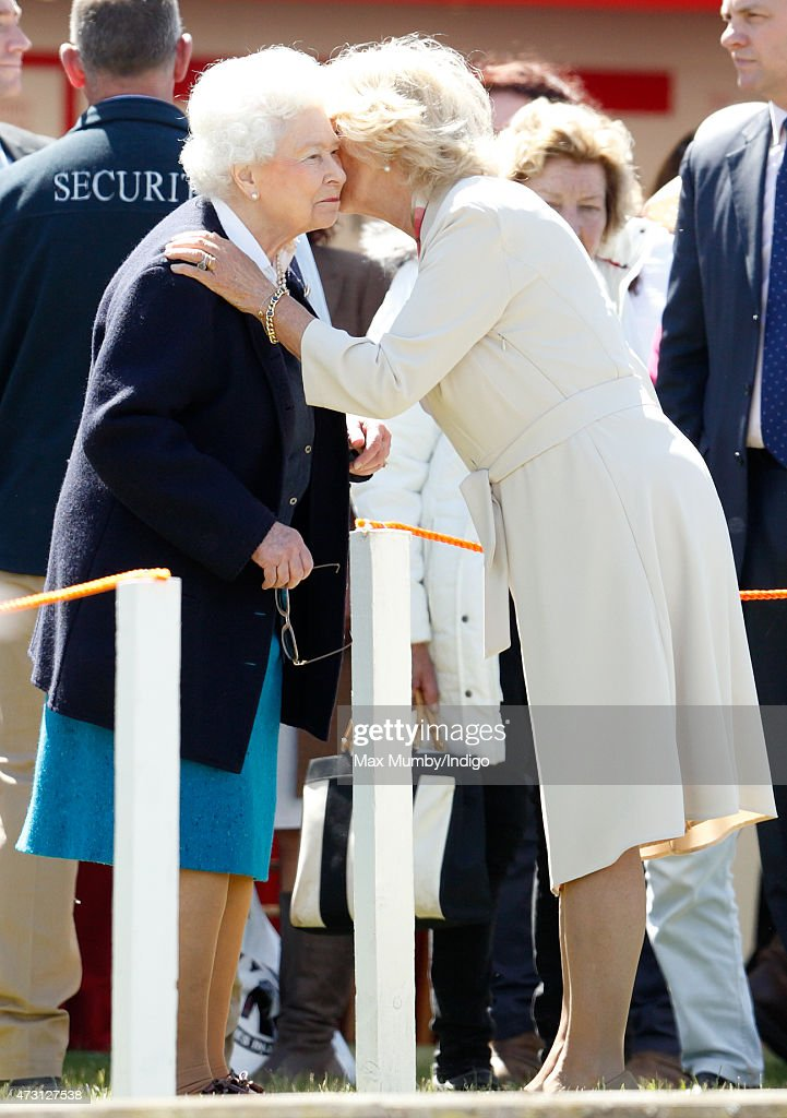 Queen Elizabeth II And Camilla Duchess Of Cornwall Kiss As They Attend Day 1