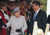 Queen Elizabeth II and Chinese President Xi Jinping attend the Official Ceremonial Welcome for the Chinese State Visit on Horseguards Parade on...