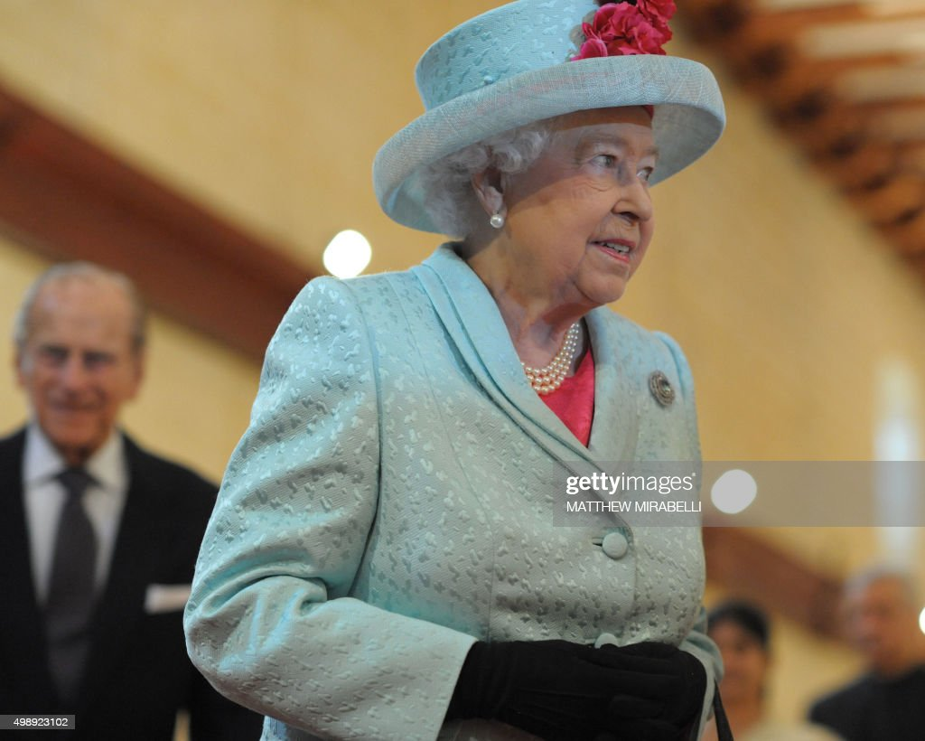 Queen Elizabeth II and her husband Prince Philip arrive for the opening ceremony of the Commonwealth Heads of Government Meeting (CHOGM) at the Mediterranean Conference Centre in Valletta on November 27, 2015. The 2015 Commonwealth Summit kicks off today to a grand opening ceremony with Queen Elizabeth II, followed by intense working sessions where world leaders will grapple with climate change. As the clock ticks to a UN climate conference in Paris starting Monday, leaders including France's Francois Hollande, Britain's David Cameron and the UN's Ban Ki-moon will try to open the door to a landmark accord for taming greenhouse gases. AFP PHOTO / MATTHEW MIRABELLI --- MALTA OUT / AFP / Matthew Mirabelli