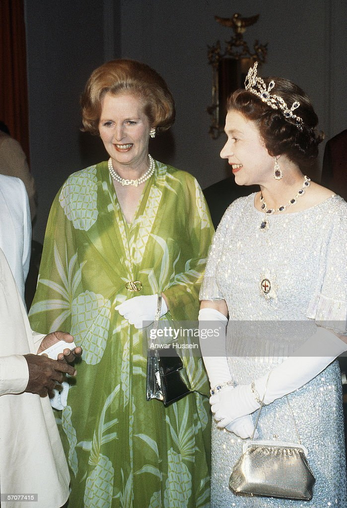 Queen Elizabeth II and Margaret Thatcher visit Zambia for the Commonwealth conference in 1979 in Lusaka, Zambia.