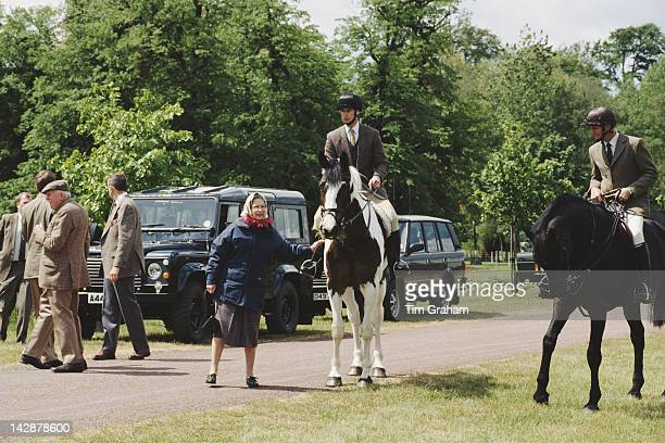Queen Elizabeth II and Prince Edward at the Royal Windsor Horse Show in Windsor 15th May 1993