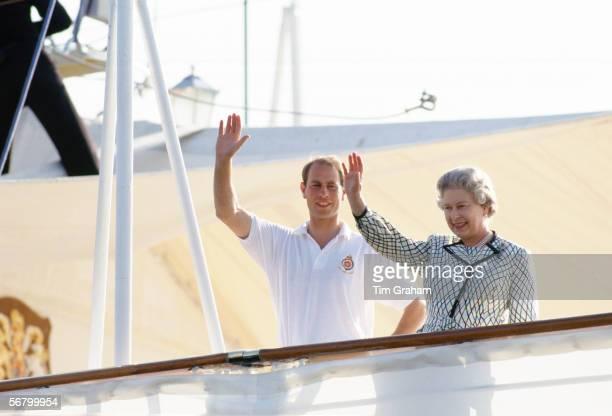 Queen Elizabeth II and Prince Edward leave for their holidays aboard Royal Yacht Britannia
