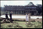 Queen Elizabeth II and Prince Philip are shown around the 'Treetops' hotel by Richard Prickett on November 13 1983 near Sagana in Kenya It was thirty...