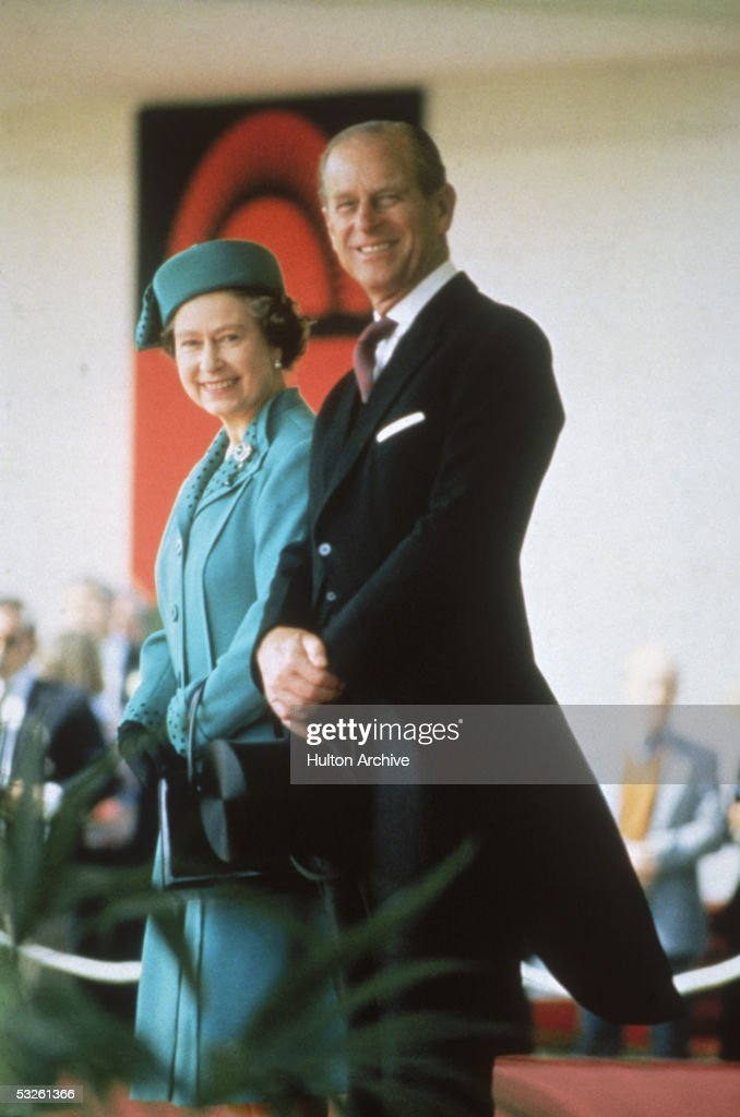 Queen Elizabeth II and Prince Philip at Ascot, 1986.