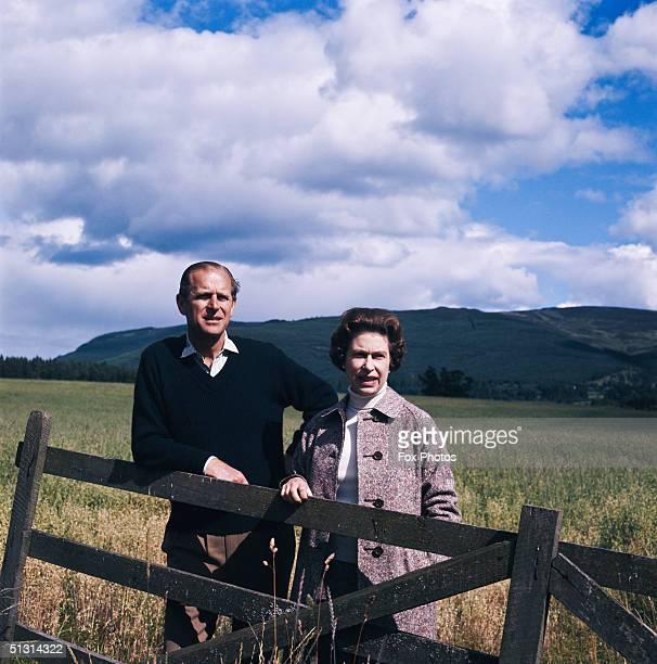 Queen Elizabeth II and Prince Philip at Balmoral Scotland 1972