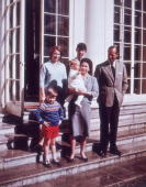 Queen Elizabeth II and Prince Philip at Windsor Castle with their children Prince Charles Princess Anne Prince Andrew and little Prince Edward