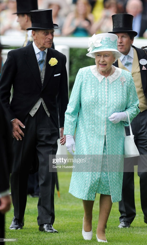 Queen Elizabeth II and Prince Philip, Duke of Edinbugh attend Ladies Day of Royal Ascot at Ascot Racecourse on June 18, 2009 in Ascot, England.