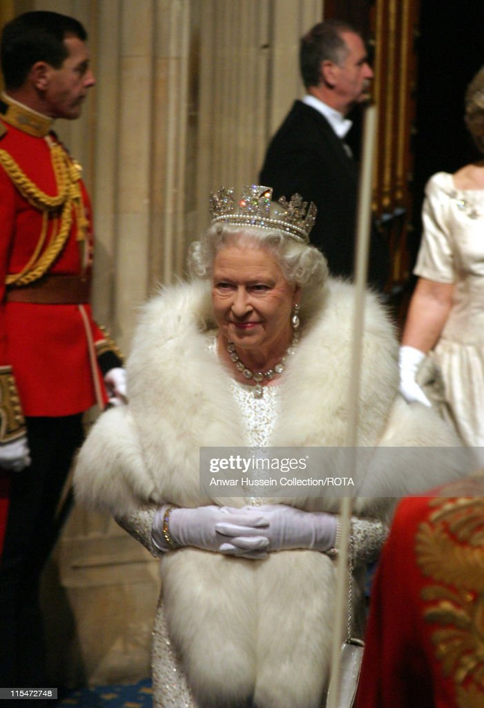 Queen Elizabeth II and Prince Philip Duke of Edinburgh arrive for the State Opening Of Parliament in London on15 November 2006