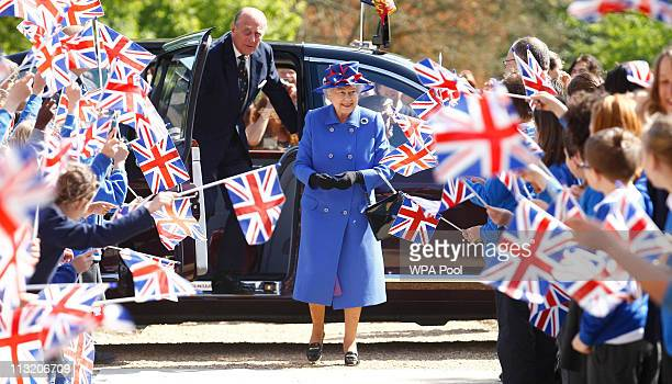 Queen Elizabeth II and Prince Philip Duke of Edinburgh arrive to open the Sainsbury Laboratory for Plant Sciences in the University of Cambridge...