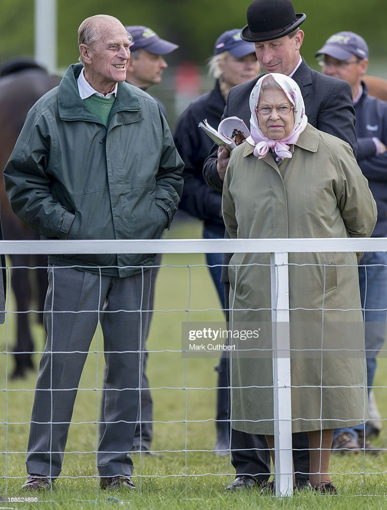 Queen Elizabeth II and Prince Philip, Duke of Edinburgh at The Royal Windsor Horse Show on May 10, 2013 in Windsor, England.