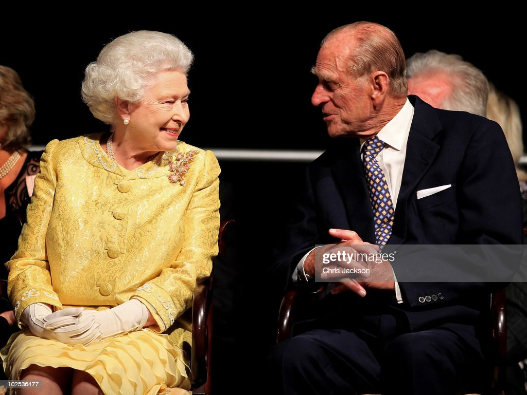 Queen <a gi-track='captionPersonalityLinkClicked' href=/galleries/search?phrase=Elizabeth+II&family=editorial&specificpeople=67226 ng-click='$event.stopPropagation()'>Elizabeth II</a> and <a gi-track='captionPersonalityLinkClicked' href=/galleries/search?phrase=Prince+Philip&family=editorial&specificpeople=92394 ng-click='$event.stopPropagation()'>Prince Philip</a>, Duke of Edinburgh attend a reception for 'A Celebration of Novia Scotia' at the Cunard Centre on June 29, 2010 in Halifax, Canada. The Queen and Duke of Edinburgh are on an eight day tour of Canada starting in Halifax and finishing in Toronto. The trip is to celebrate the centenary of the Canadian Navy and to mark Canada Day. On July 6th, the royal couple will make their way to New York where the Queen will address the UN and visit Ground Zero.