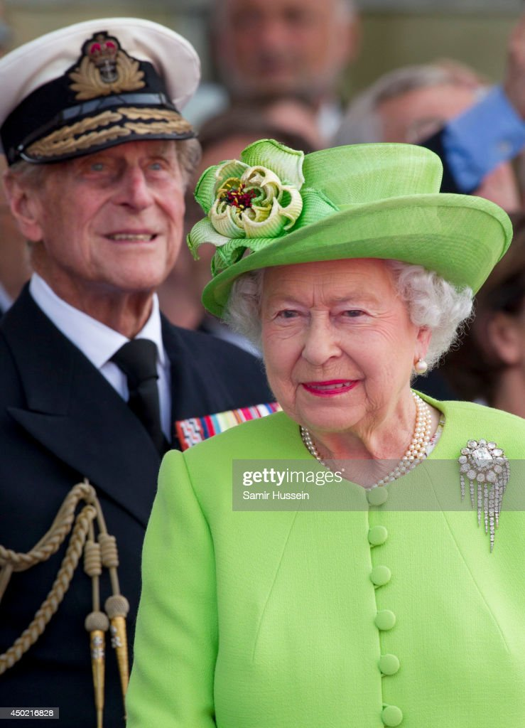 Queen Elizabeth II and Prince Philip, Duke of Edinburgh attend a Ceremony to Commemorate D-Day 70 on Sword Beach during D-Day 70 Commemorations on June 6, 2014 in Ouistreham, France.