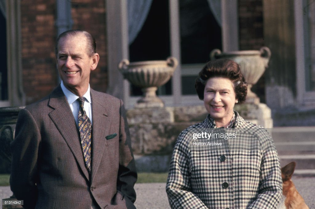 Queen Elizabeth II and Prince Philip, Duke of Edinburgh, celebrating 30 years reign while visiting Balmoral, Scotland, 6th February 1982.