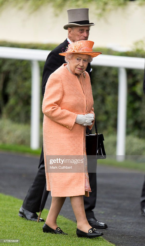Queen Elizabeth II and Prince Philip, Duke of Edinburgh on day 5 of Royal Ascot at Ascot Racecourse on June 20, 2015 in Ascot, England.